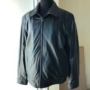 Black Leather jacket by Wilson's Leather